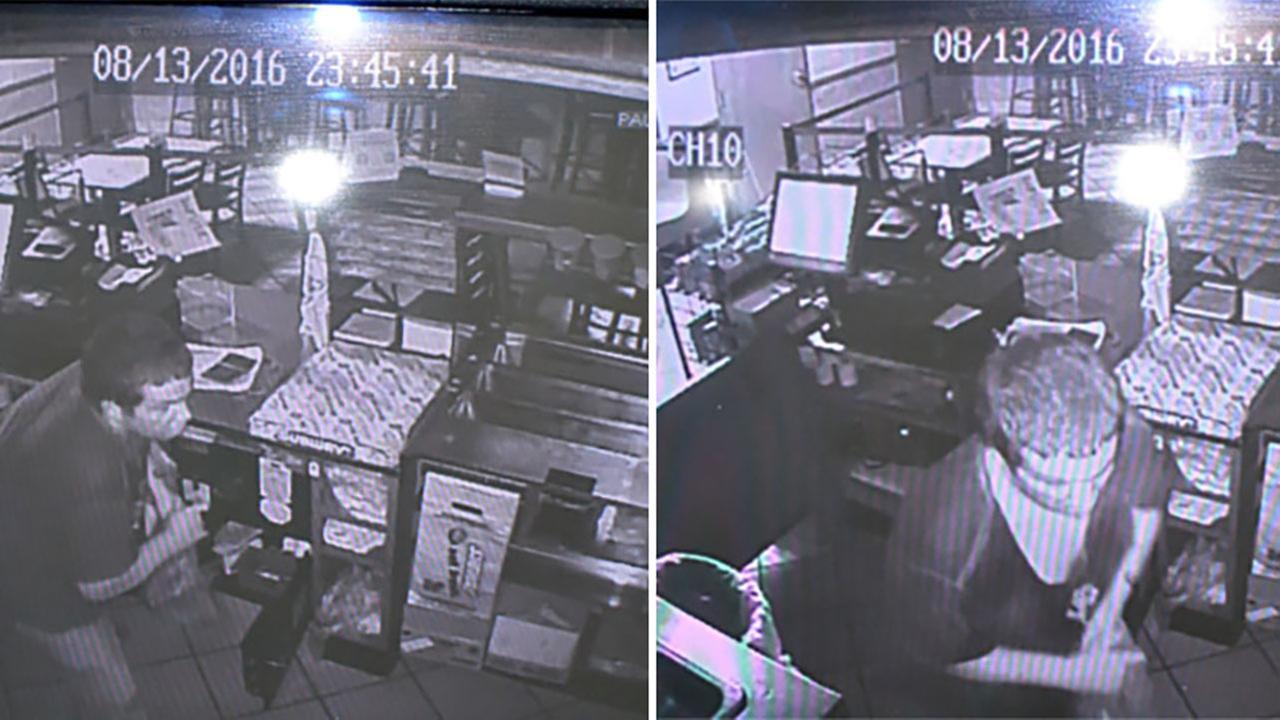 Surveillance footage of the Subway break-in suspect.