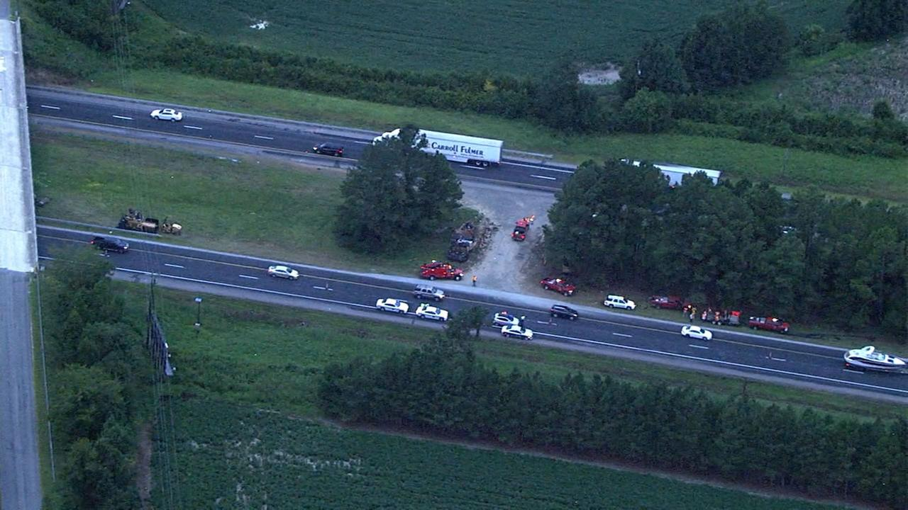 I-95 southbound reopens in Nash County after crash