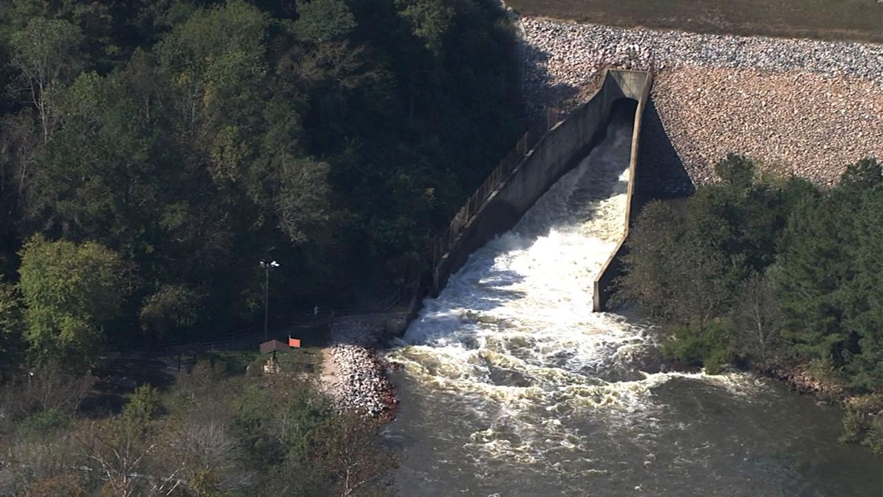 Water is released from Falls Lake.