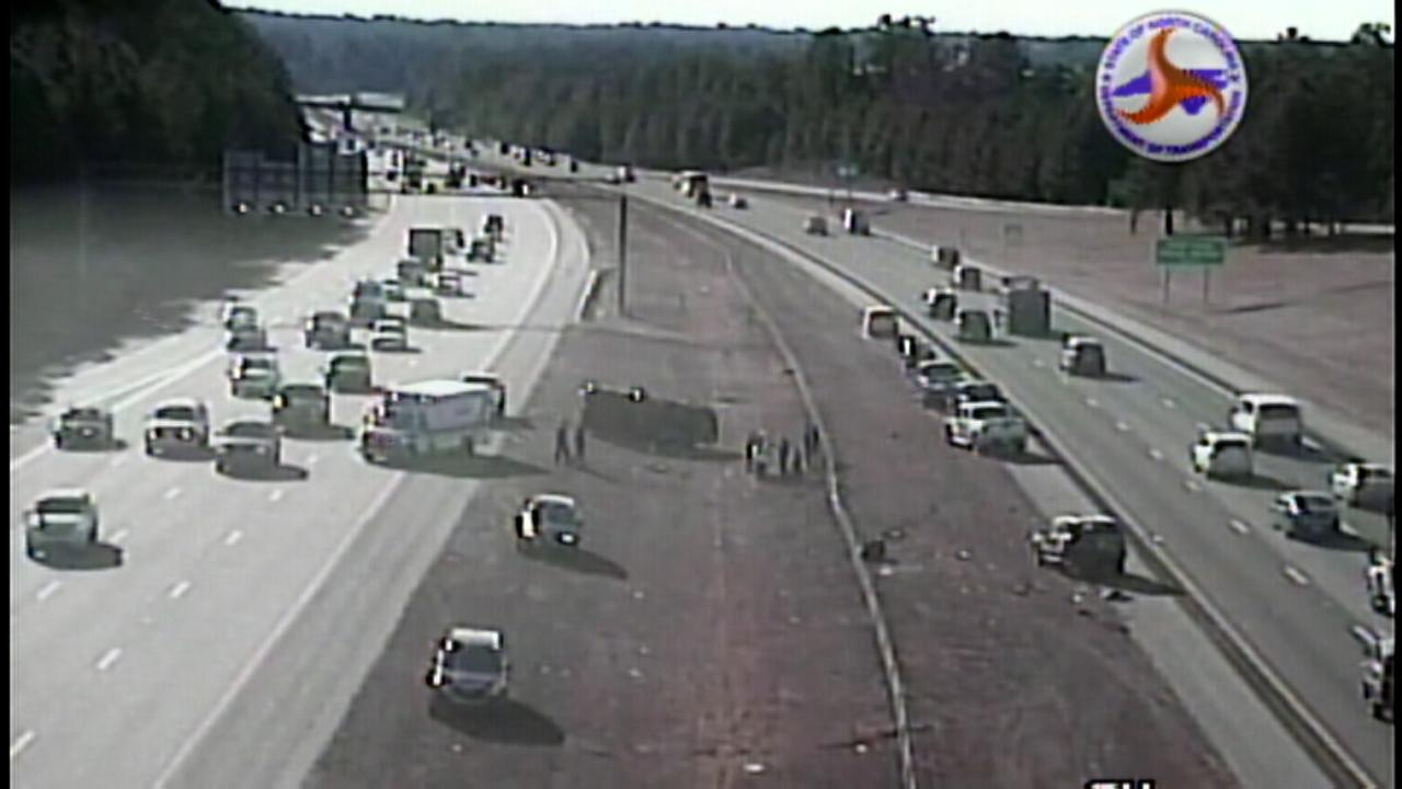 Vehicle overturns on I-540 near US 70 in Wake County