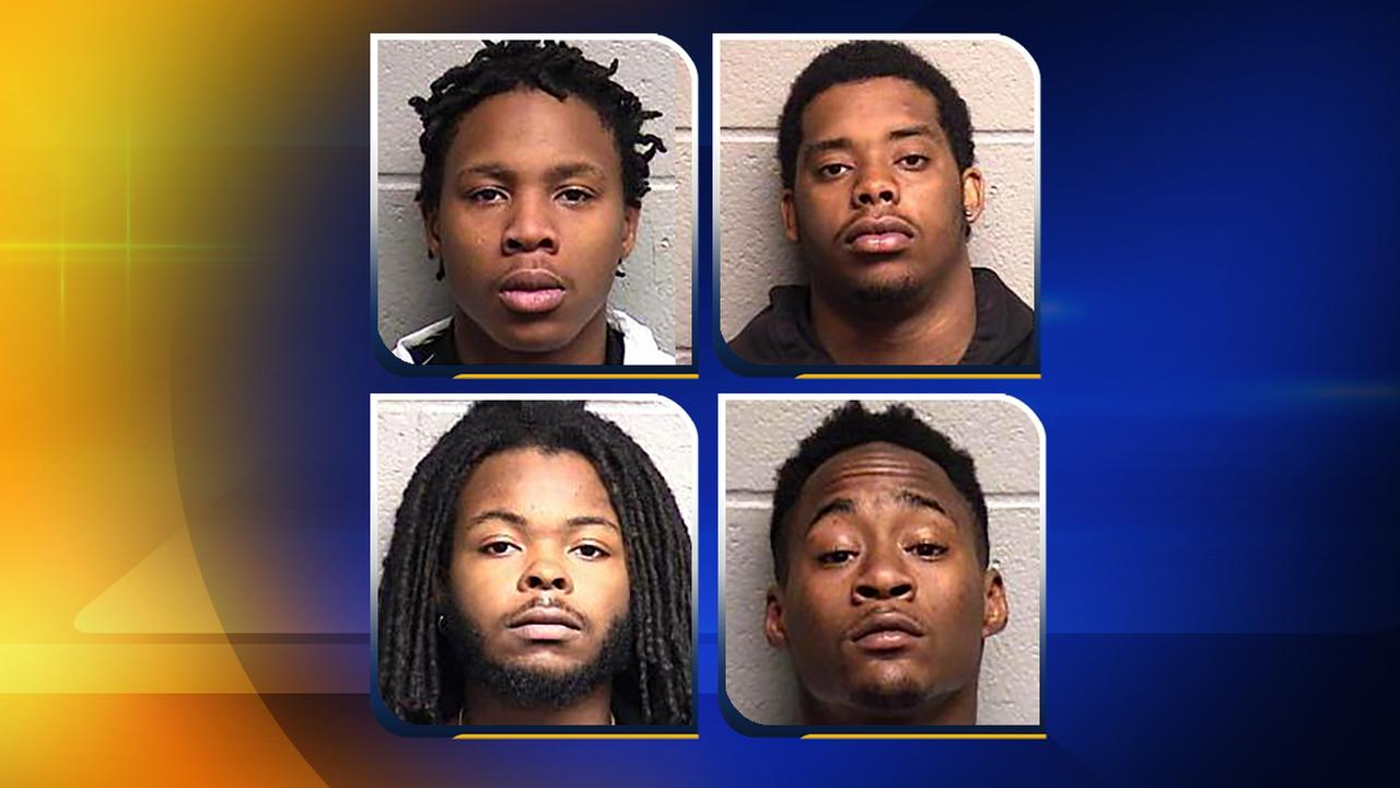 Clockwise, from top left, Jayrell Kersey, Timothy Chavis, Reed, and Brandon Holloway,