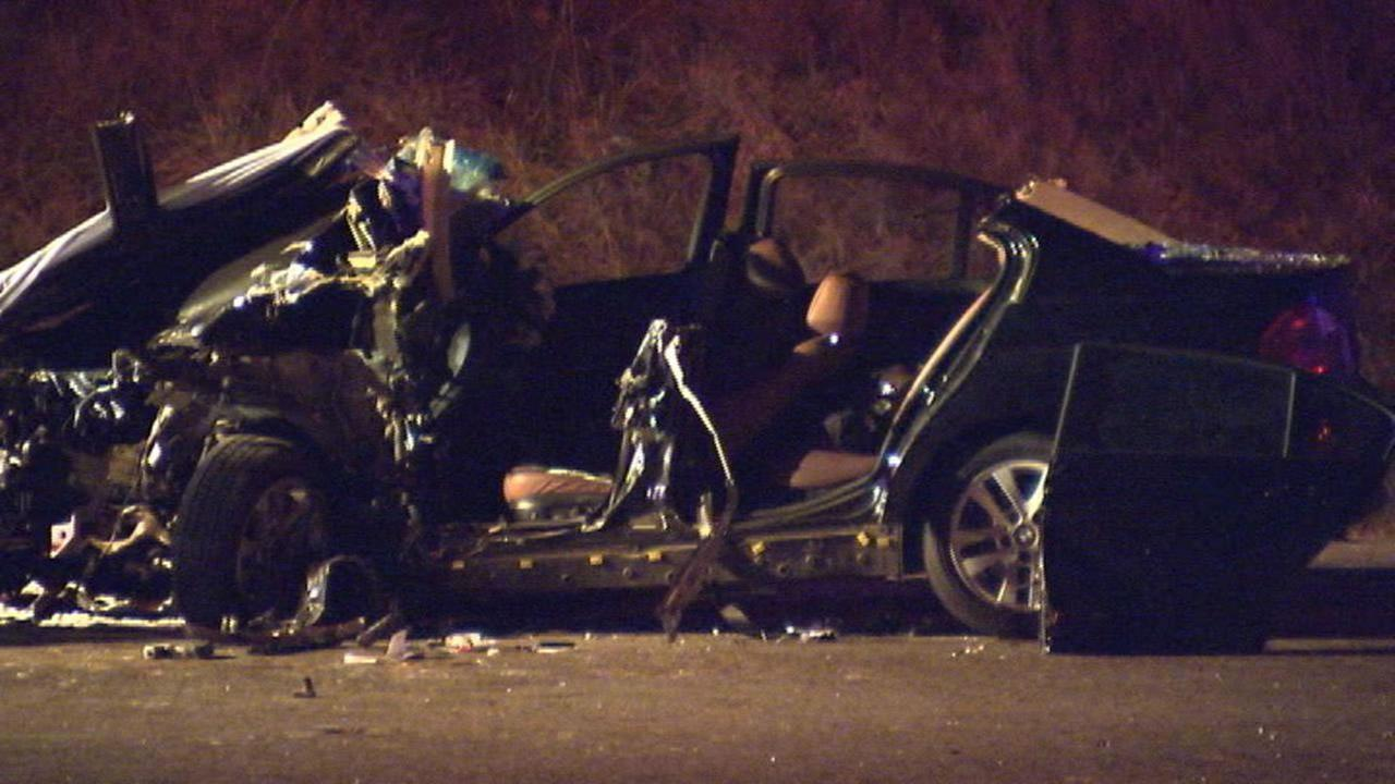 The BMW was destroyed (image courtesy WSOC-TV)