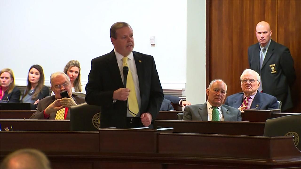 Republican Senate leader Phil Berger criticized Democrats on Wednesday night for failing to support legislation that would have repealed HB2.