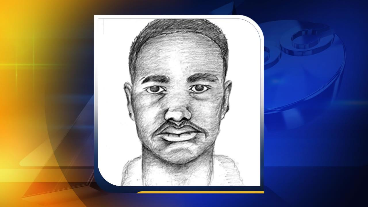A composite sketch of the rape suspect released by the Fayetteville Police Department.