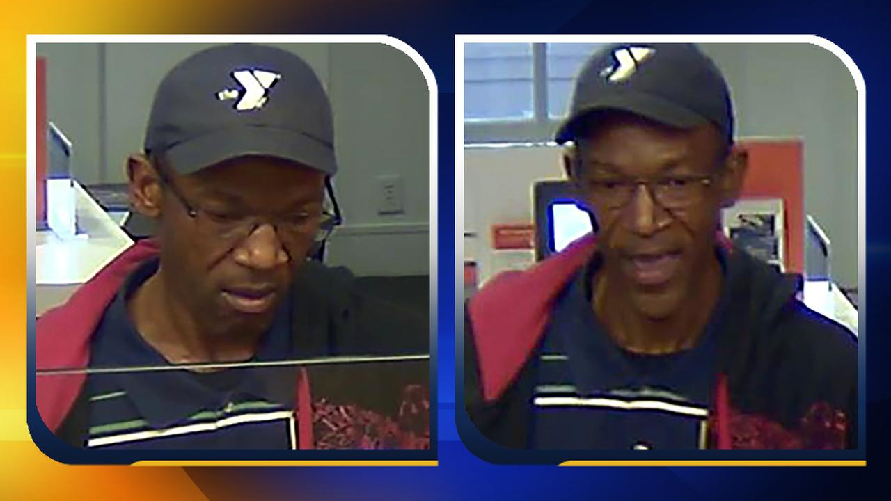 Two surveillance images of the Chapel Hill bank robbery suspect.