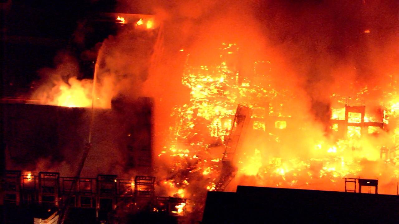 Huge Raleigh fire.