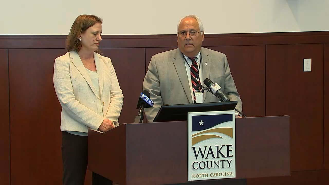 Wake County Manager Jim Hartmann and Wake County District Attorney Lorrin Freeman