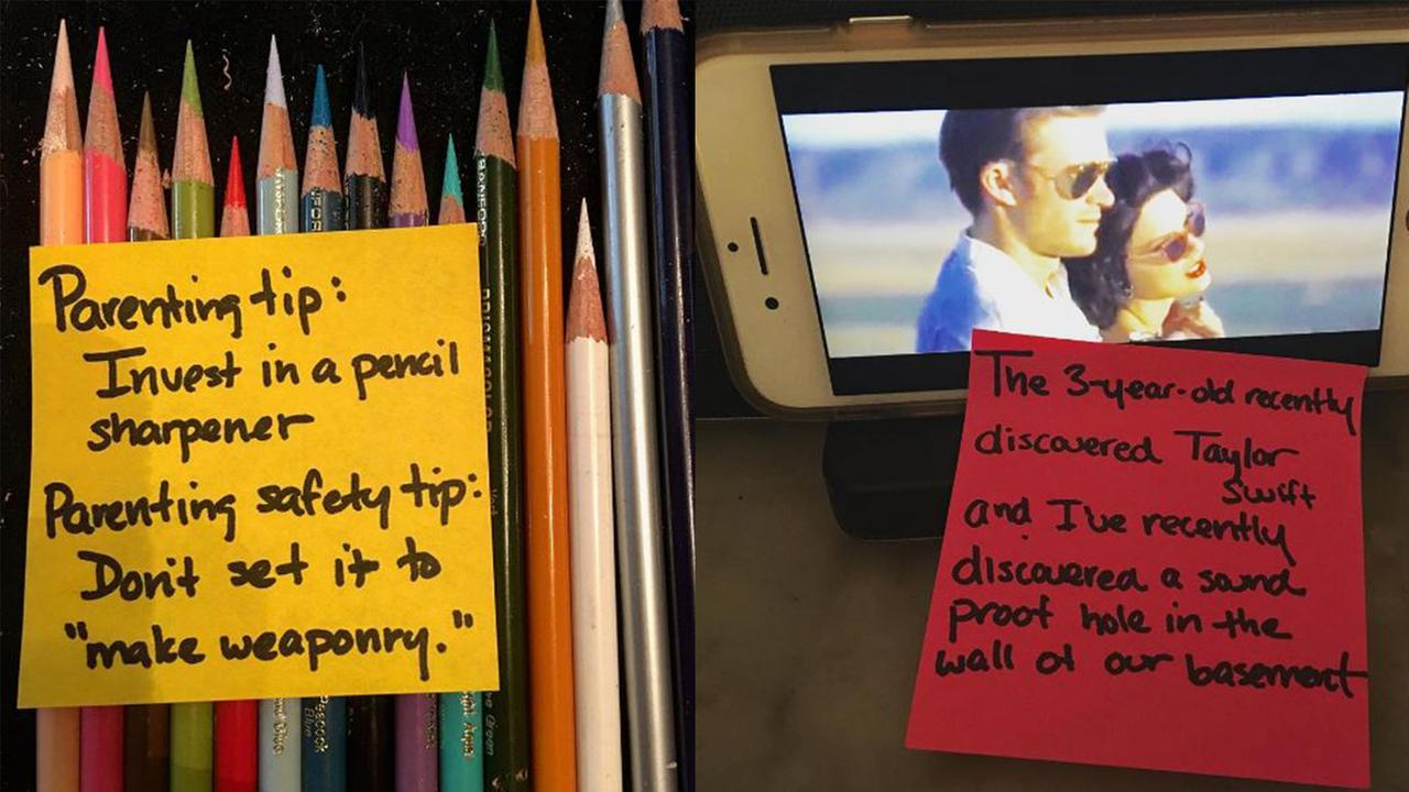 Stay-at-home dad leaves hilarious Post-it notes around the house for his wife to find