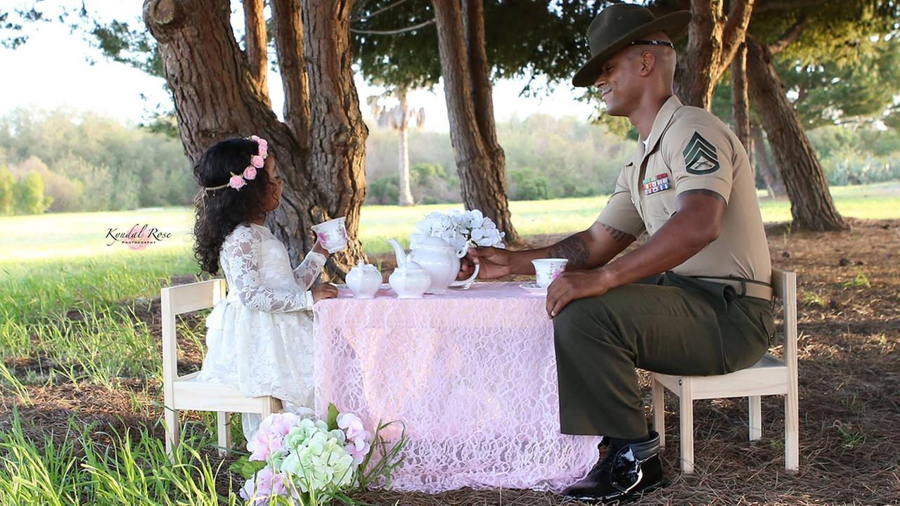 Kevin Porter was surprised with a magical tea party photo shoot with his 4-year-old daughter, Ashley