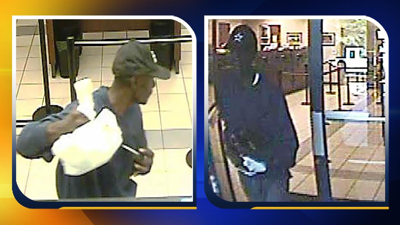 Surveillance images of the credit union robbery suspect.