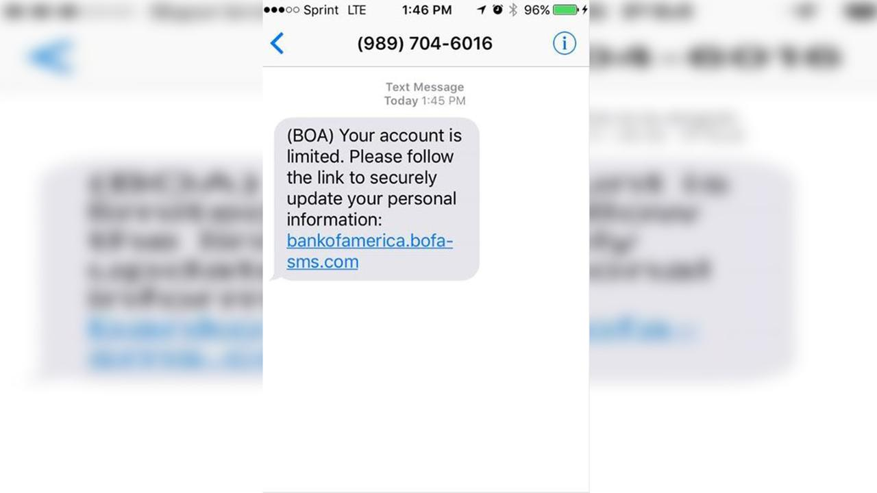 Bank of America text message phishing scam resurfaces