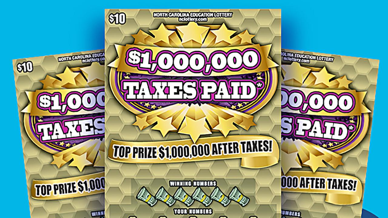 Taxes paid generic lottery scratchoff image