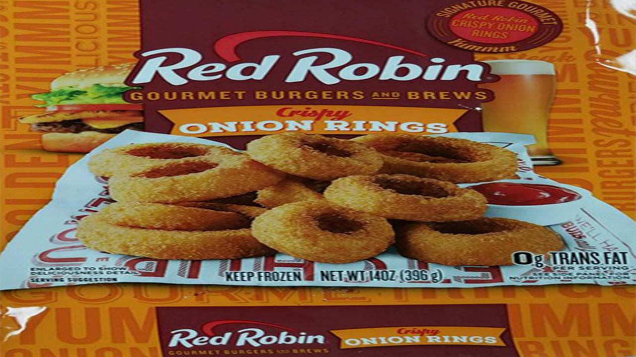 Red Robin frozen onion rings recalled for undeclared milk