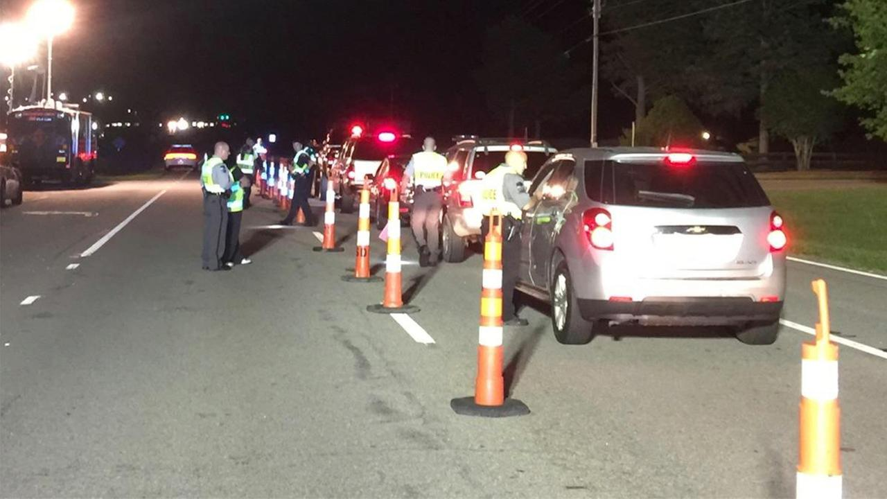 Nearly 100 people were either arrested or charged at a DWI Checkpoint Saturday night.
