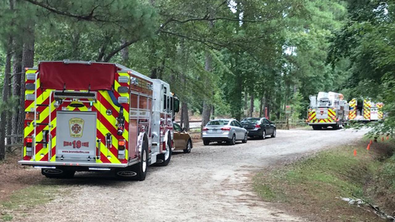 Zip line rescue underway in Fayetteville