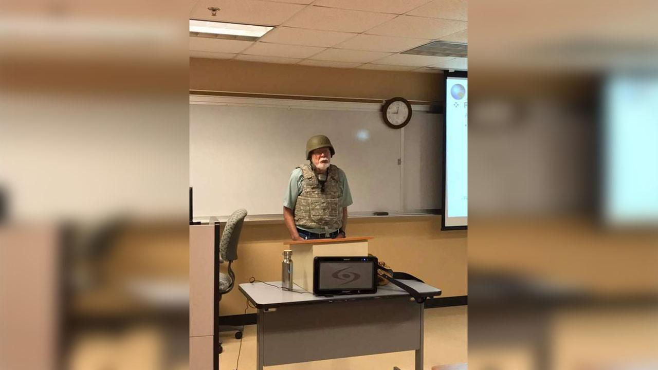 Professor goes to work in body armor after concealed weapons allowed on campus