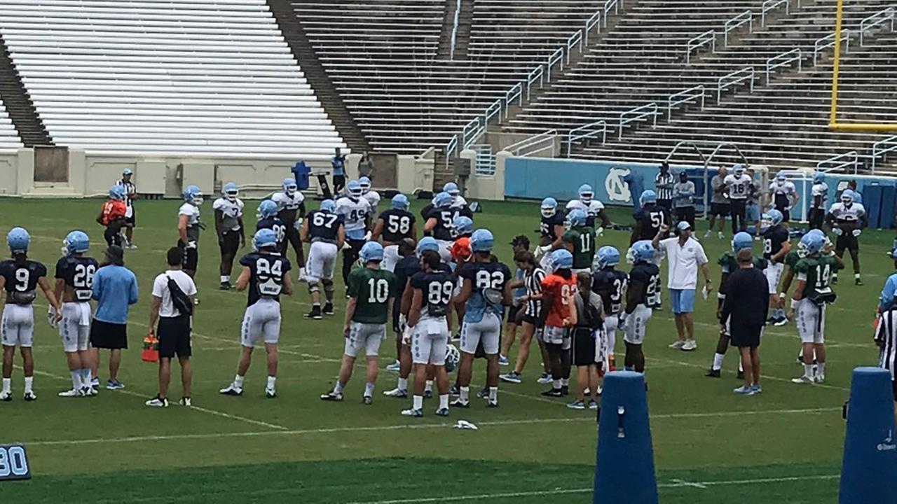 Its a crowded QB field at UNC.