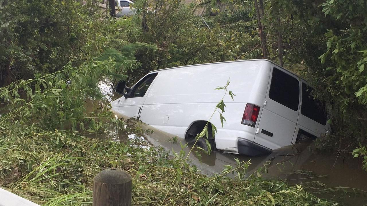 The familys van was located Wednesday morning after getting swept away on Sunday.