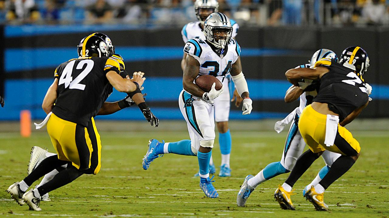 Panthers running back Cameron Artis-Payne had another solid outing Thursday against Pittsburgh.