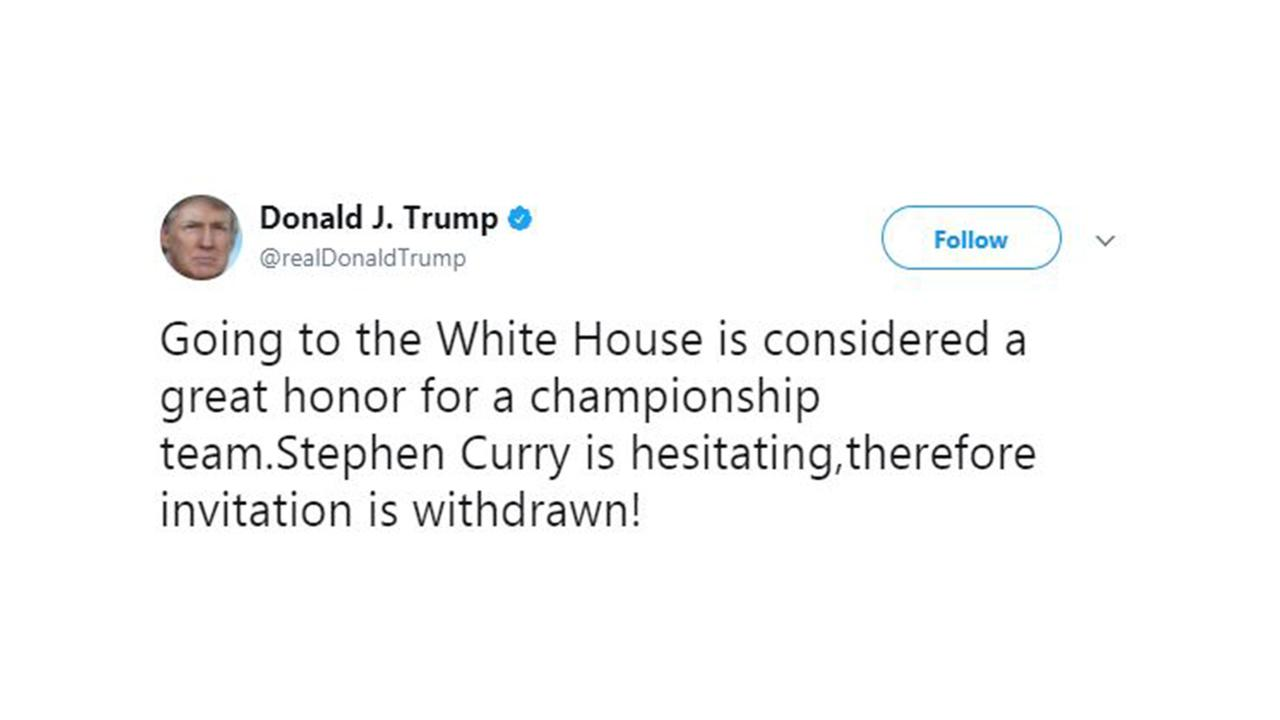 Warriors, NBA, and NFL players respond to Trump