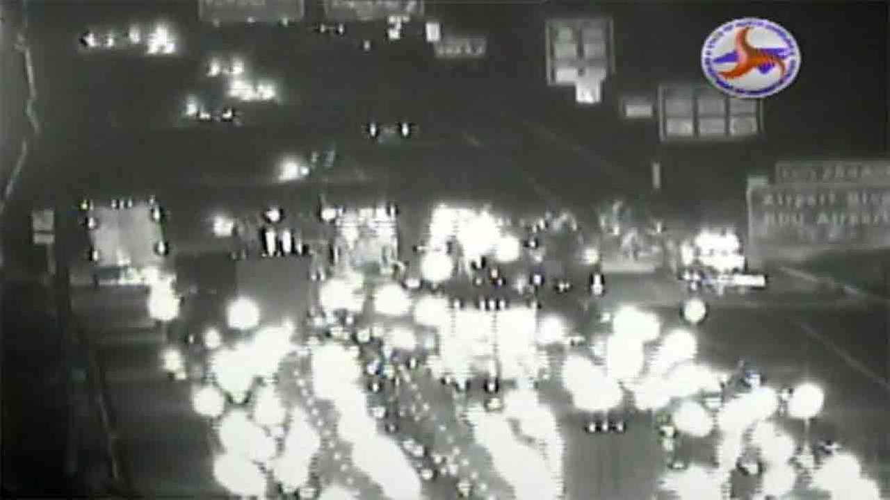 Crash causes backup on I-40 eastbound near Airport Blvd