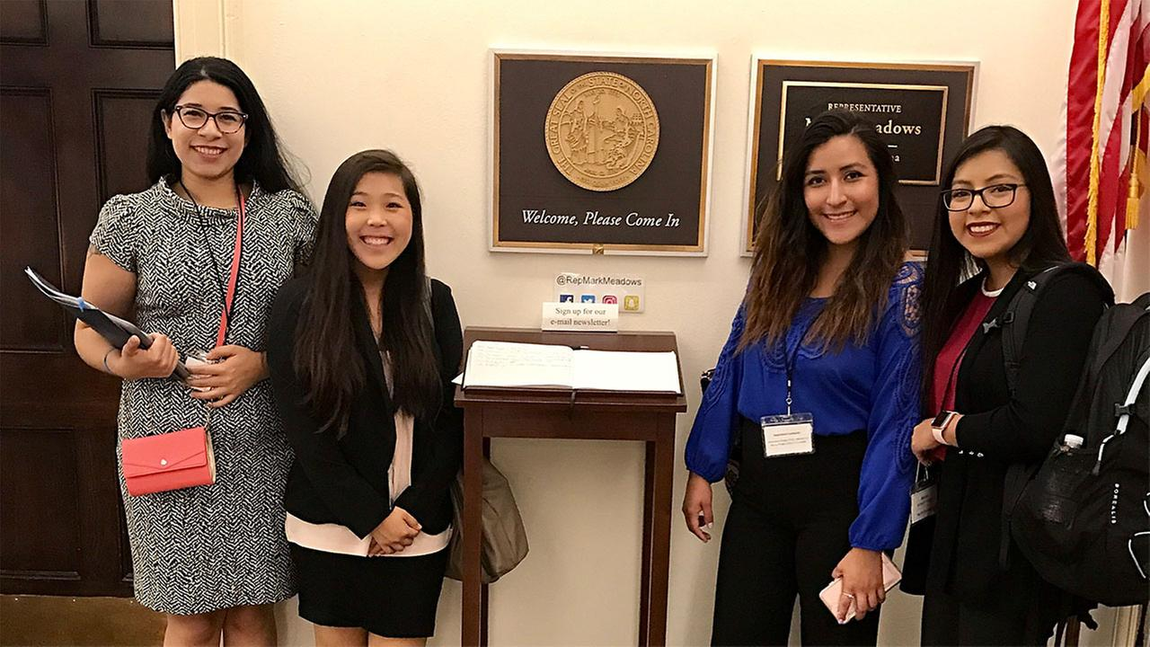Four NC Dreamers went to DC recently and met with the staff of three lawmakers over the DREAM Act of 2017.