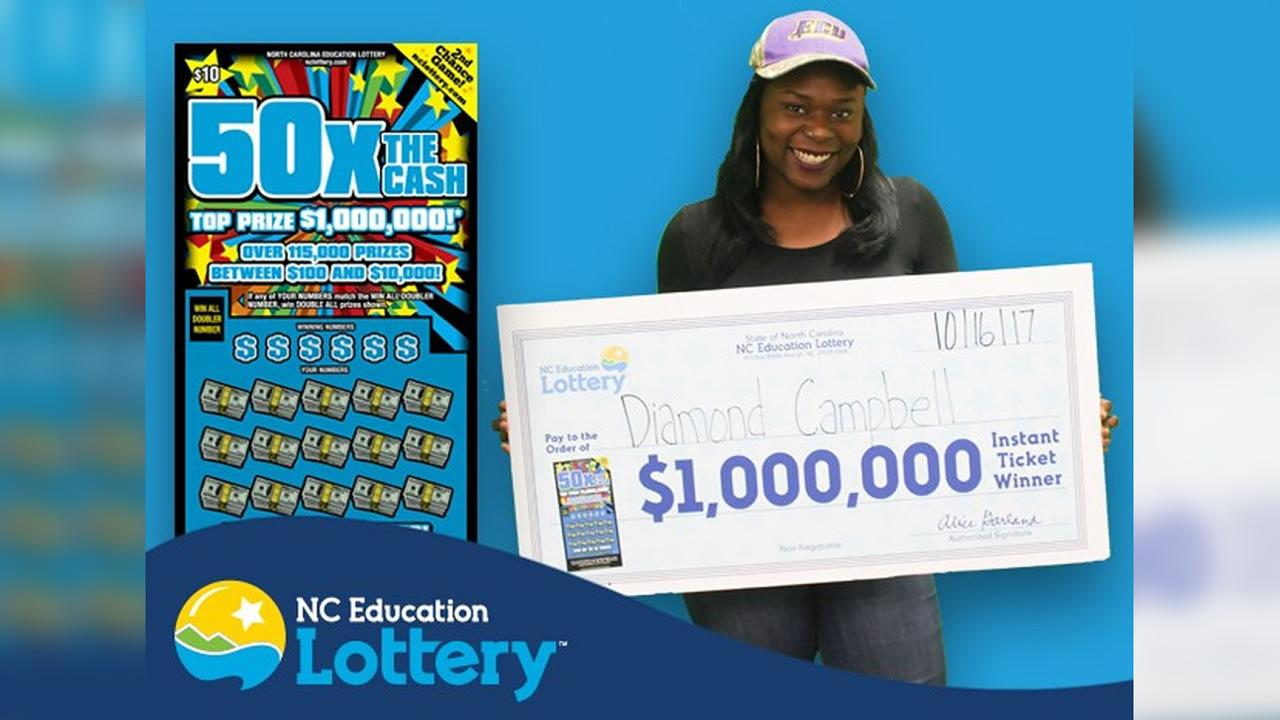 Diamond Campbell of Kinston (image courtesy NC Education Lottery)