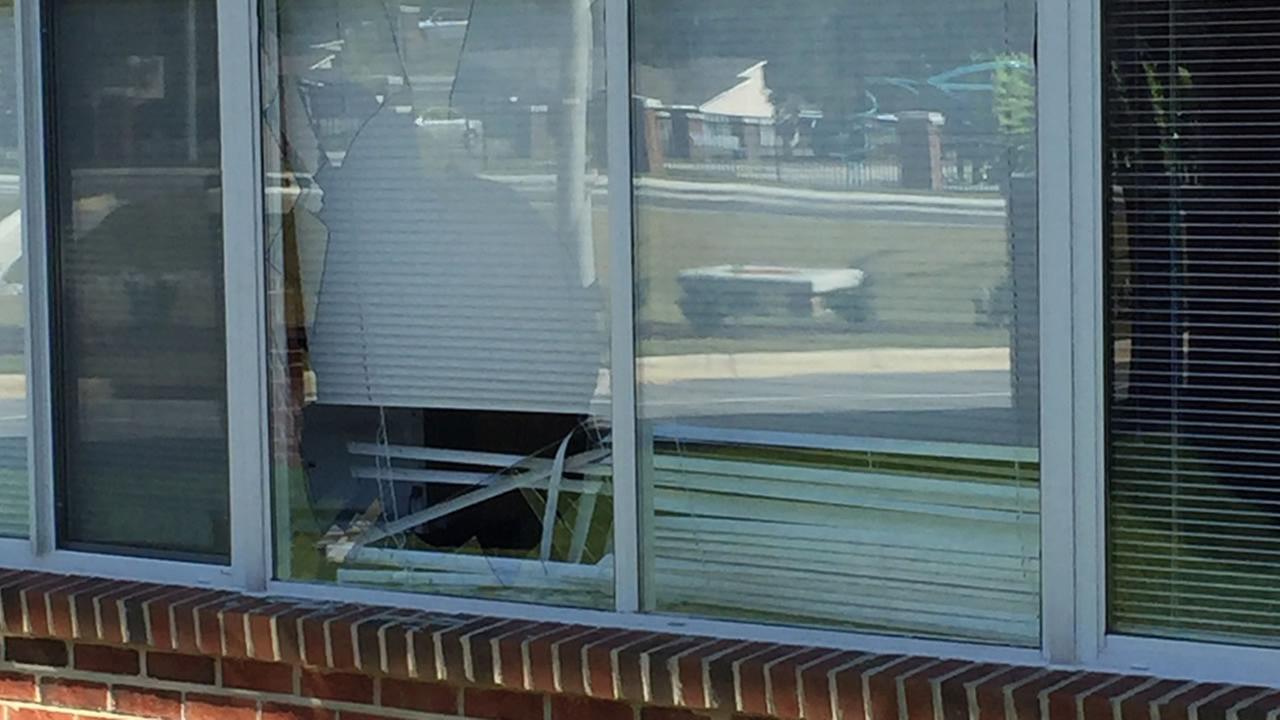 The deer broke a window.