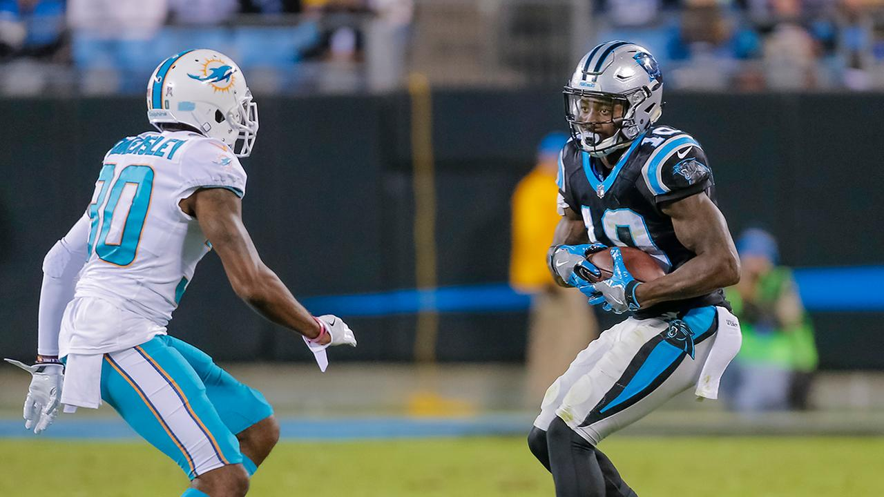 Curtis Samuel had five catches against the Dolphins on Monday night.