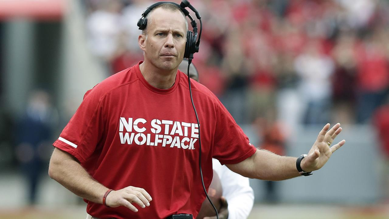 North Carolina State head coach Dave Doeren (AP Photo/Gerry Broome)