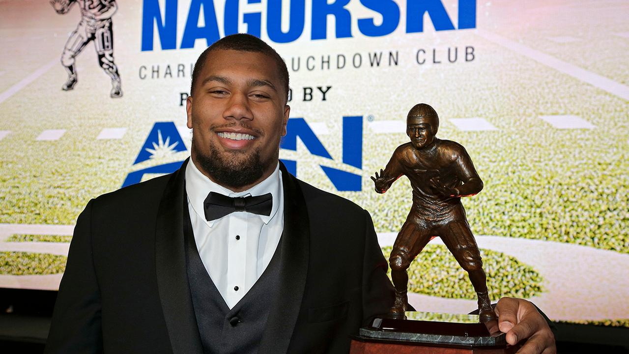 Bradley Chubb became NC States first winner of the Nagurski Award as the nations top defender. on Monday.
