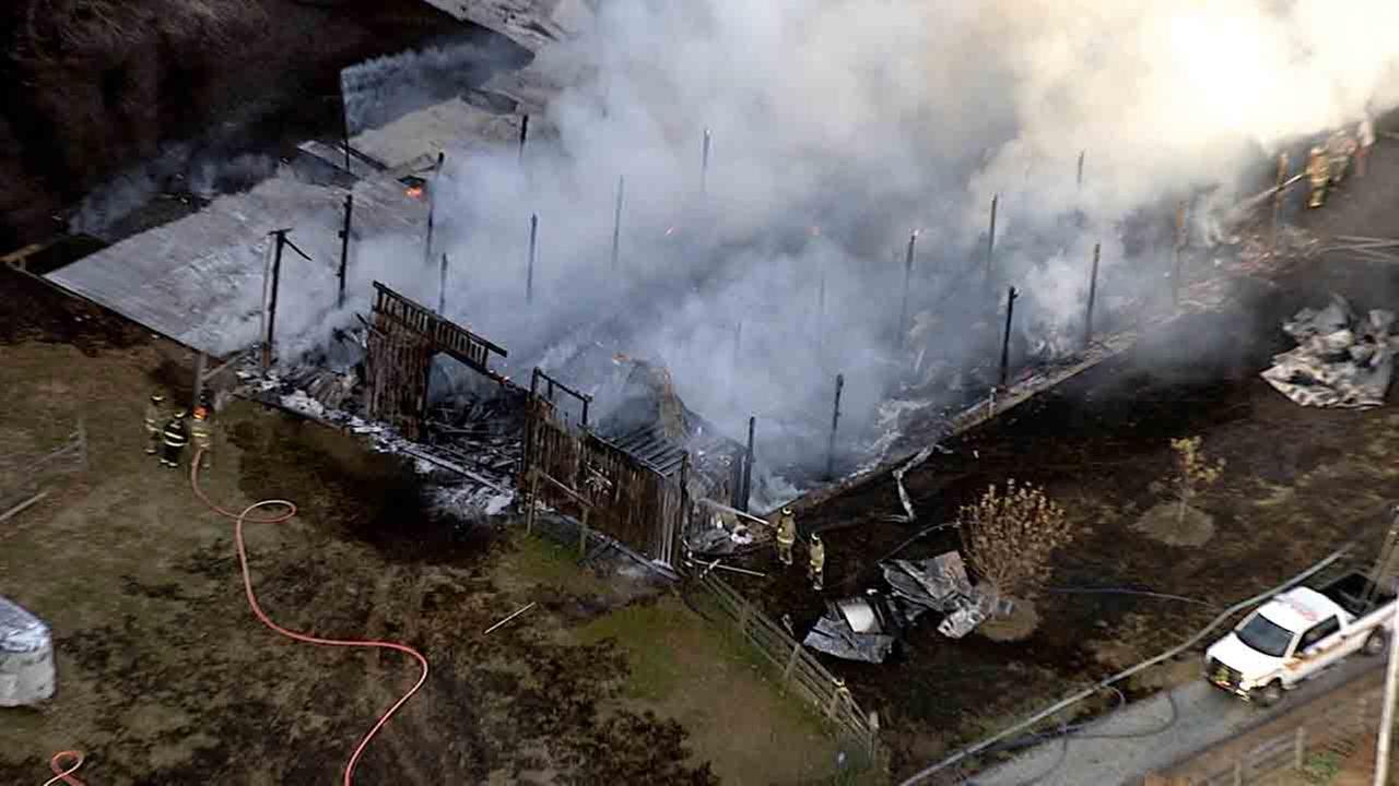 Chopper 11 HD over Person County fire