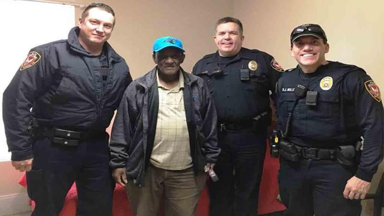 Durham police surprise disabled man with Panthers gear