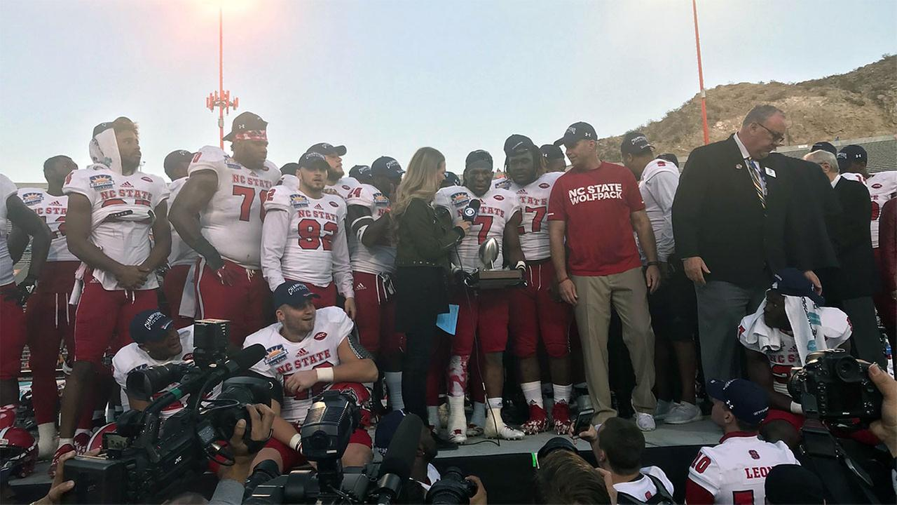 NC States Nyheim Hines was named MVP of the Sun Bowl after the Wolfpacks 52-31 win over Arizona State.