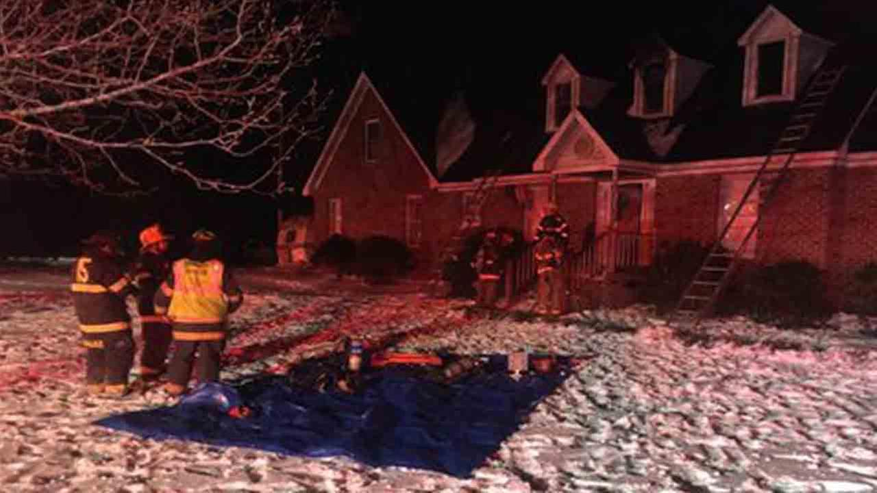 NC man sets house on fire trying to warm frozen pipes