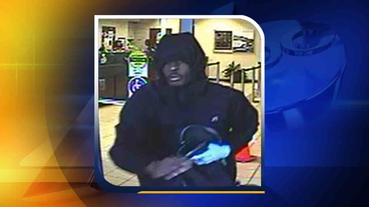 Surveillance image of the robbery suspect