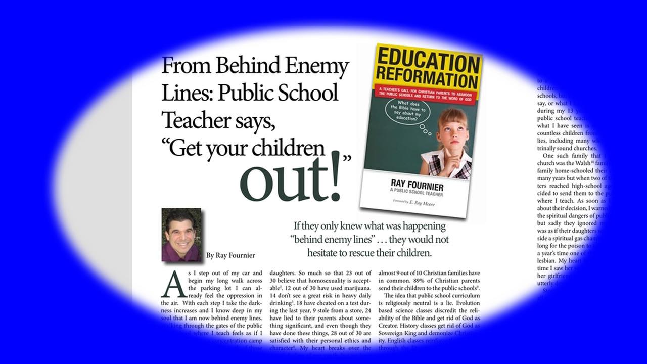 Fuquay-Varina High School biology teacher Ray Fourniers article entitled Behind Enemy Lines