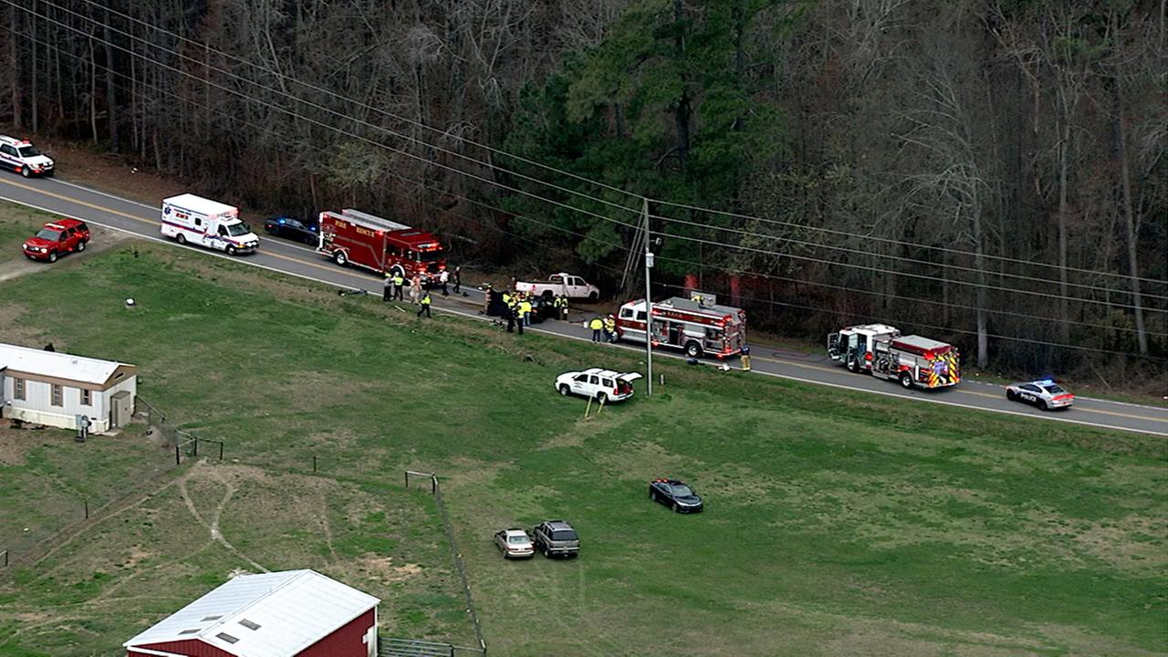 Chopper 11 HD over the scene of the crash Wednesday.