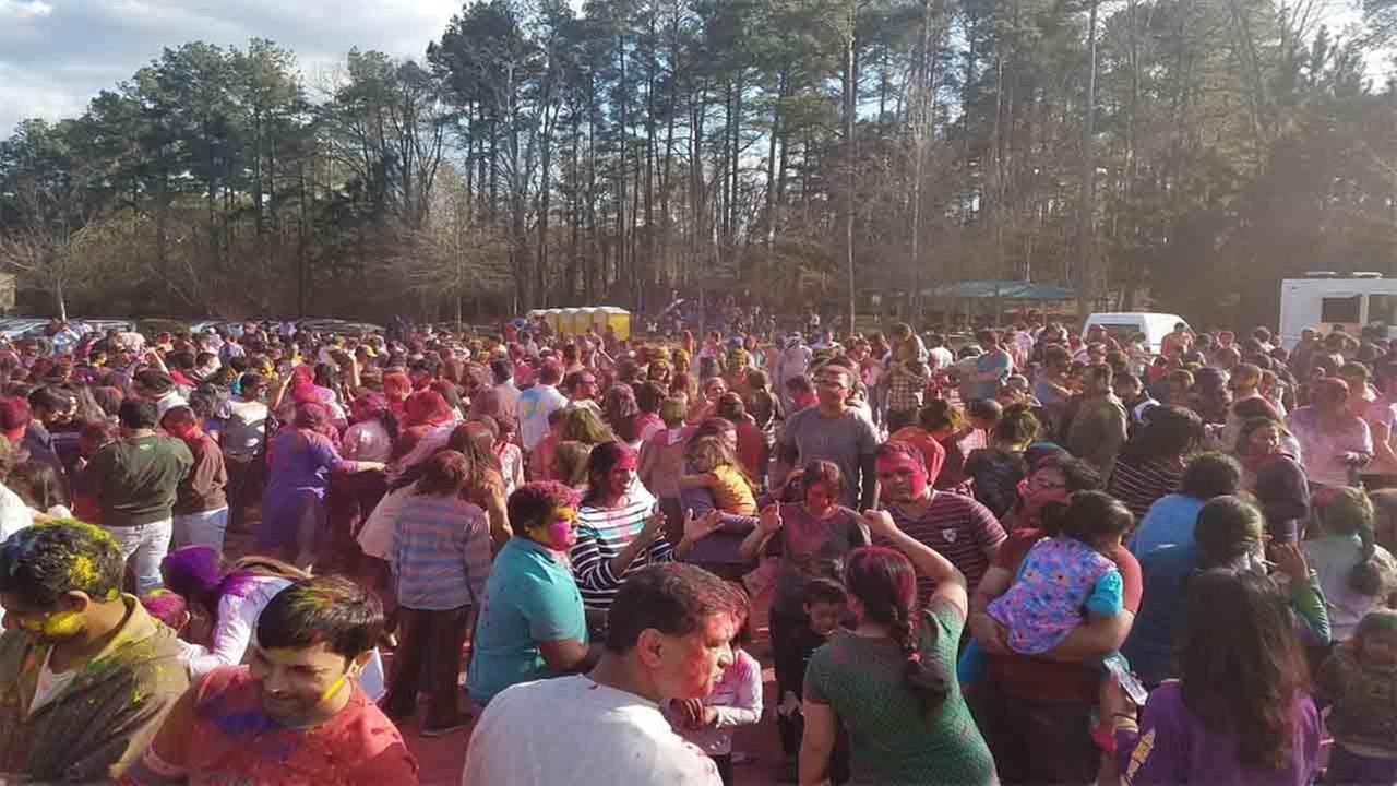 The community enjoying last years celebration