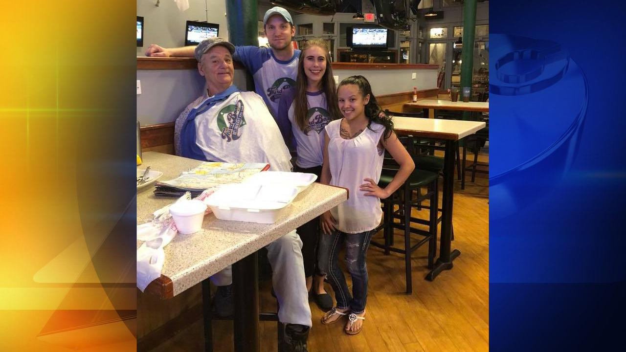 Bill Murray at Third Base Restaurant and Bar