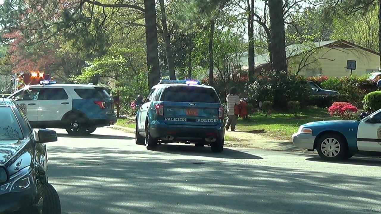 Raleigh Police investigate an incident Tuesday on Savannah Drive in Raleigh.