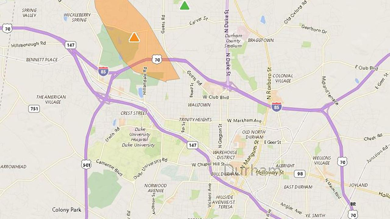 Power outages reported in Durham Co.