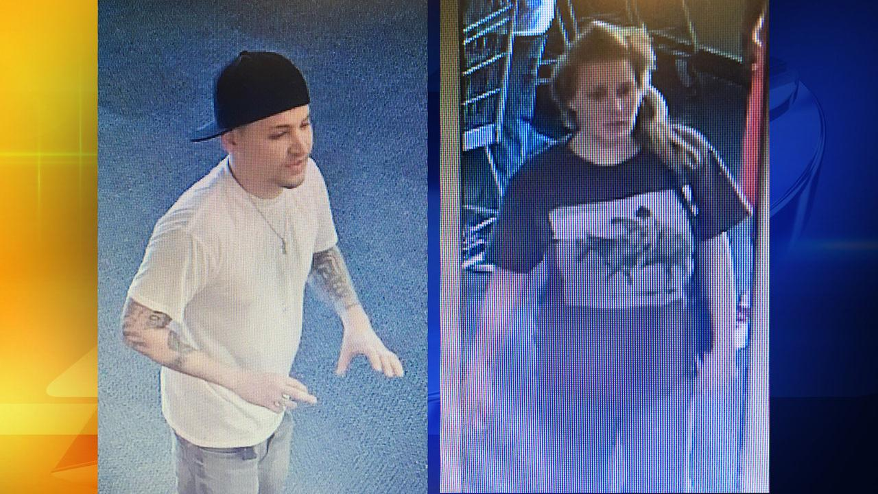Surveillance images of the two meat-theft suspects in Clayton.