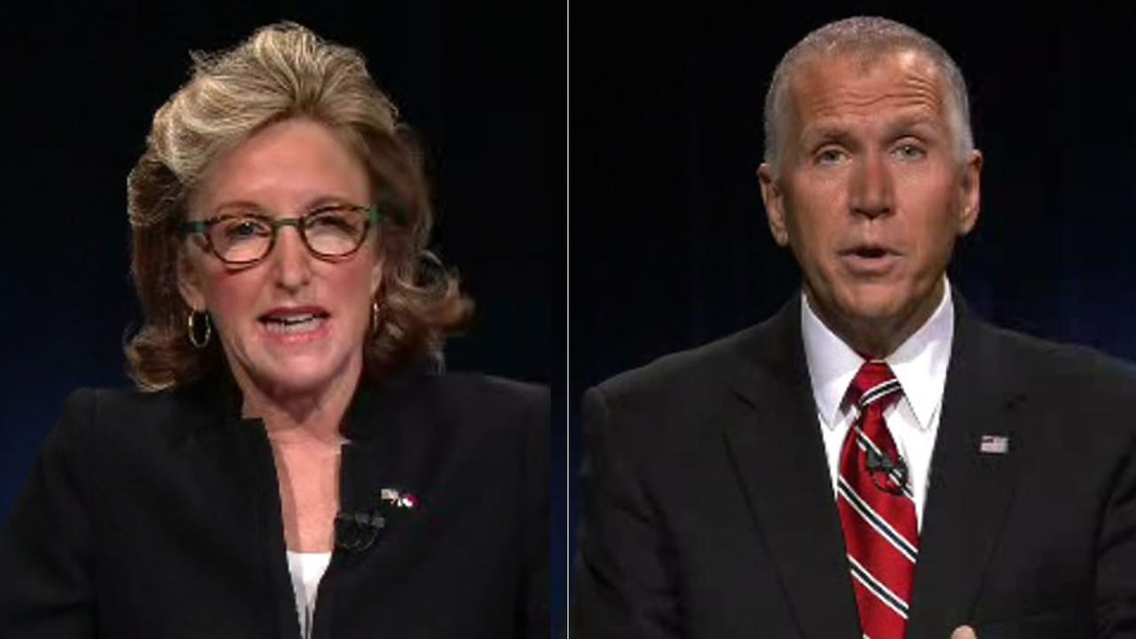 Sen. Kay Hagan and House Speaker Thom Tillis