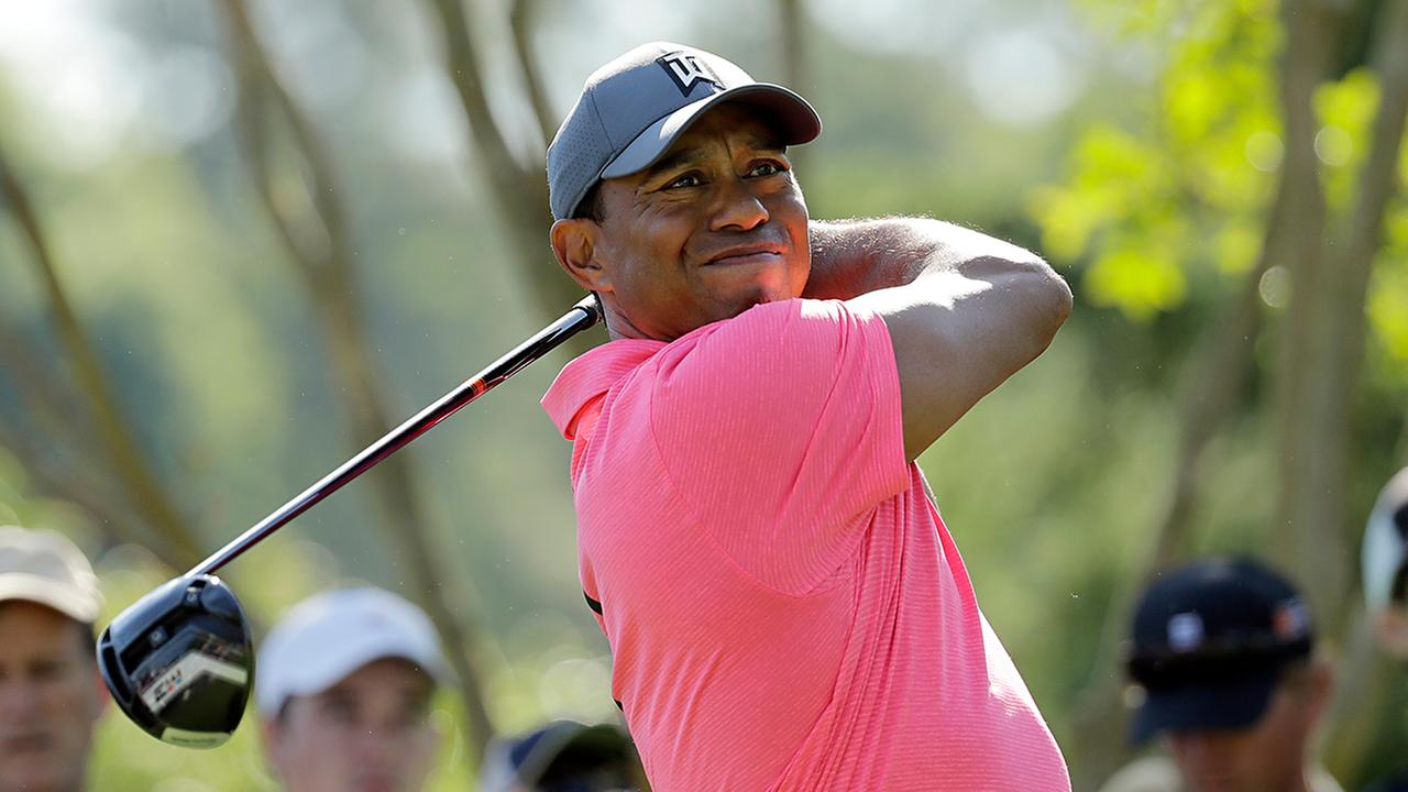 Tiger Woods tees off Wednesday at Quail Hollow.