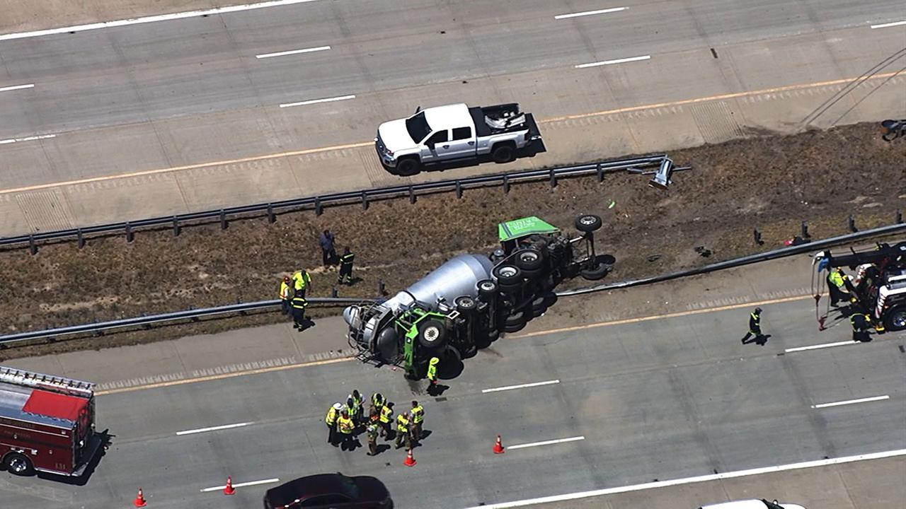 Wreck closes multiple lanes on I-540 in Knightdale