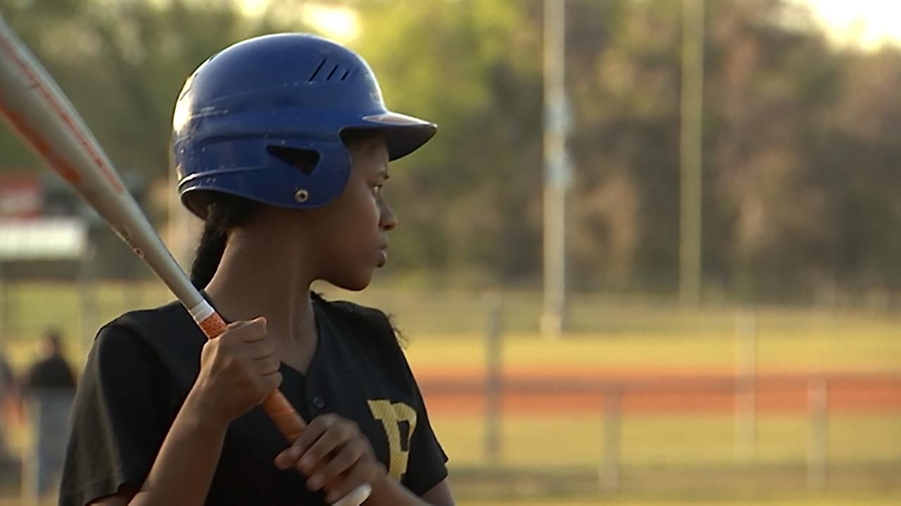 Diavian Graham started out playing softball but realized she wanted the challenge of baseball, too.
