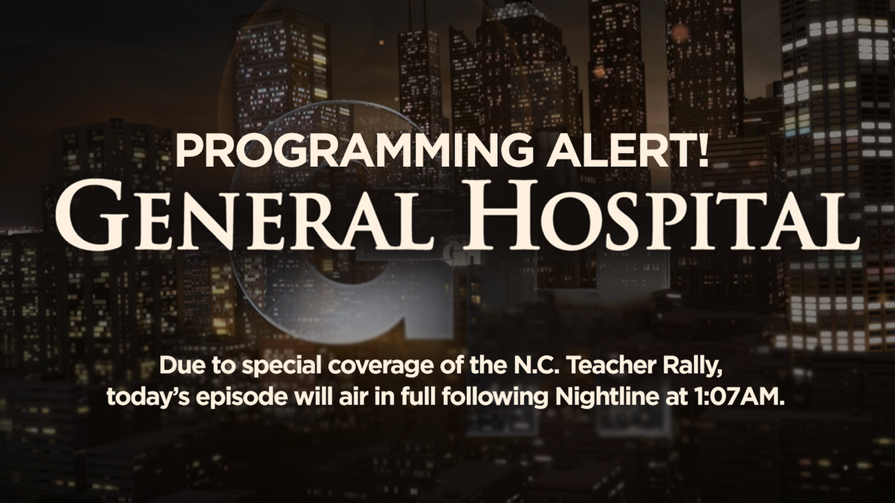 Programming Alert: General Hospital to air in late night