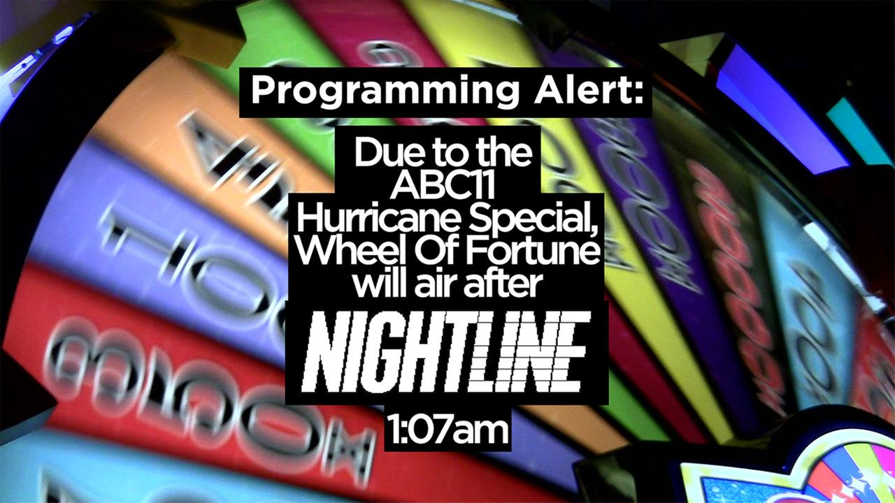 PROGRAMMING ALERT: Wheel of Fortune to air after Nightline