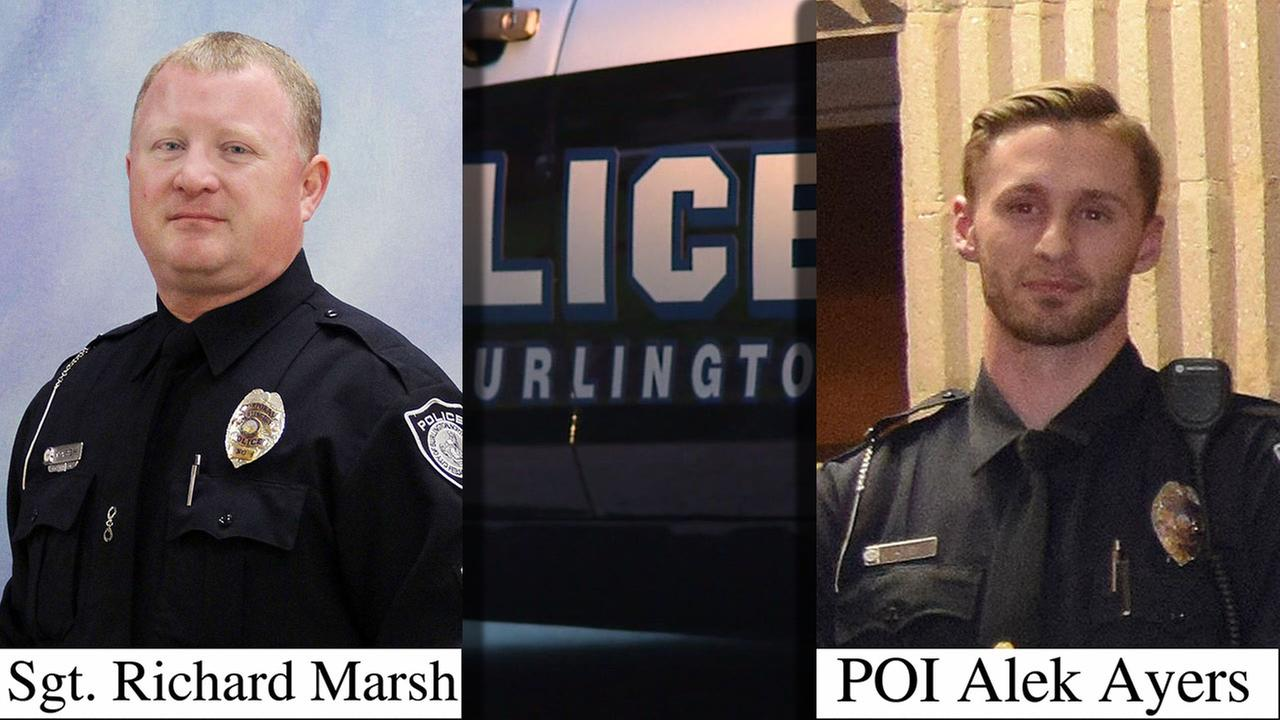 The two Burlington police officers involved in the deadly incident with a machete-wielding suspect.